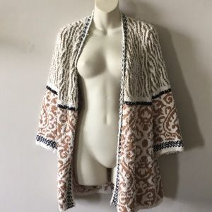 Chico's nubby knit duster sweater size Medium (1)